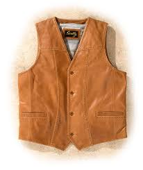scully leather lamb western style vest