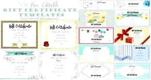 Custom Gift Certificate Templates Free Personalized Gift Certificates Template Free