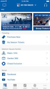 by madison square garden new york rangers official app new york rangers official app