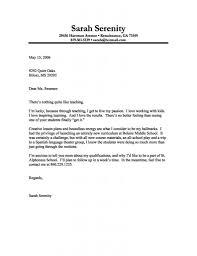 Bistrun Teacher Cover Letter Examples Sample For Teaching Format