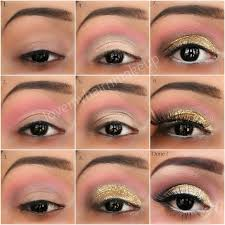 gold glitter eye makeup how to do gold glitter eye makeup tutorial indian beauty touch