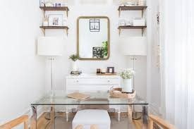 Organizing ideas for home office Hacks Glass Desk With Floating Shelves Good Housekeeping 15 Easy Desk Organization Ideas How To Organize Your Home Office