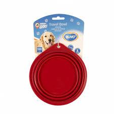 DUVO+ <b>Миска для животных складная</b>, силиконовая, красная ...