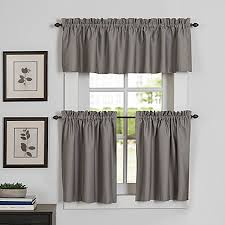 image of Newport Kitchen Window Curtain Tier and Valance