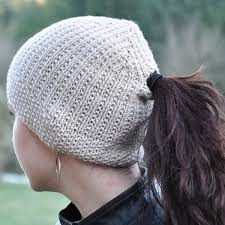 Ponytail Hat Knitting Pattern Inspiration Ponytail Hats Tag Hats