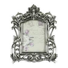 chic silver ornate frame black picture frames uk full size