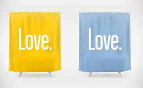 colorful shower curtains. Love Quote Shower Curtain Available In 36 Colors Colorful Curtains