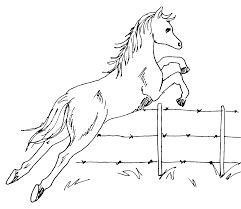 fence drawing. Horse Jumping Fence Drawing