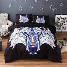 super soft white duvet cover mandala flowers elephant set black dark blue bedding queen vintage quilt soft duvet cover white