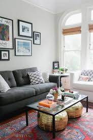 eclectic living room furniture. Cool Eclectic Living Room With Gray Sofa And Comfort Pillow Also Frame Decoration Décor Shoo Away Clutter Messy Furniture T