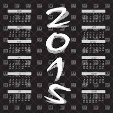 Simple 2015 Calendar Simple Two Tone Color Year 2015 Calendar Vector Image Vector