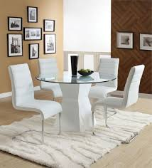 Round Glass Tables For Kitchen Kitchen Seamless Kitchen Table Set In Modern Style With Round