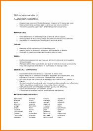 8 Resume Skill List Example Prefix Chart