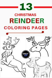 Christmas Baby Reindeer Coloring Pages At Seimado