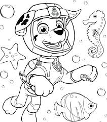 Coloring Sheet Paw Patrol Pages Everest Badge Chase Interactive