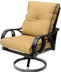 berkshirepatio channel cast aluminum outdoor patio swivel rocker chair with sunbrella echo teak cushion antique bronze