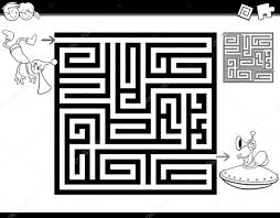 Labyrint Of Labyrint Kleurplaat Stockvector Izakowski 118605258