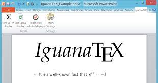 microsoft powerpoint examples iguanatex a free latex add in for powerpoint on windows