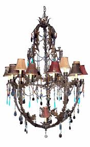 moroccan jeweled iron large chandelier close out