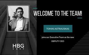 Tomas Astrauskas New Deputy Ceo Of Hbg Corp Hbg Corp