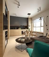 Wooden Panelling Small Scandinavian Apartment