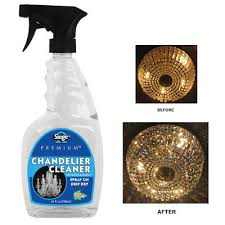 glass crystal chandelier cleaner spray light fixture glass dining solution 24 oz
