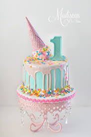 Melting Ice Cream Cone Cake For A 1st Birthday Birthday Fiesta