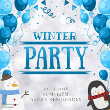 Cute Template Cute Winter Party Invitation Video Template Postermywall