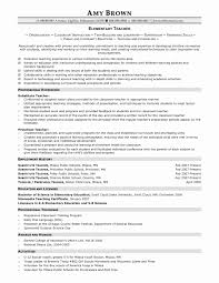 Resume For Elementary Teachers Teacher Resume Examples Latter