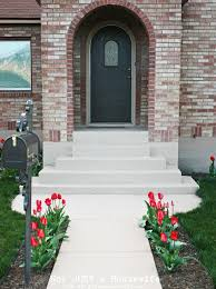 entryways painting concrete steps and walkway using behr concrete garage floor paint use the primer first