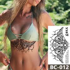 1 лист грудь тело татуировки временные водонепроницаемые украшения