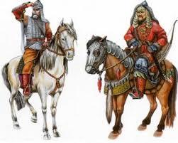 Дмитрий Донской Куликовская битва Русский дружинник и хан Золотой Орды
