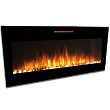 electric fireplace wall mounted sydney 50 inch log recessed