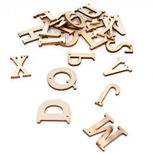 Natural Wooden Letters 26 Pieces