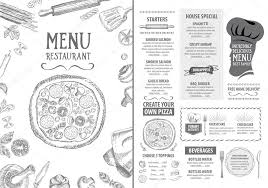 family menu template italian restaurant menu template design stock vector marchi