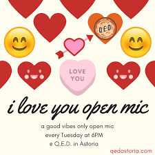 Free Open Mic QED A Place To Show Tell Interesting Images About Hw I Mic To Be Inlove