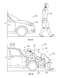 Granted on may 17 2016 the patent states the adhesive bonds the pedestrian to the vehicle so that the pedestrian remains with the vehicle until it stops