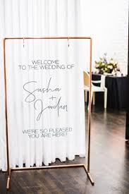 Copper Stand Welcome Sign Wedding Bar Stand Seating Chart