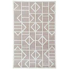 machine made frost gray 5 ft x 8 ft geometric area rug