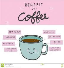 Coffee Beverage Chart Benefit Of Coffee Chart Illustration Stock Illustration