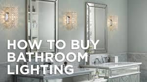 Vintage Bathroom Lights Over Mirror How To Buy Bathroom Lighting Buying Guide