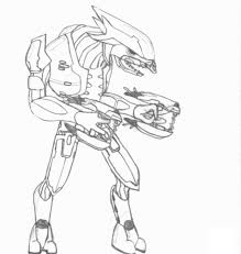 Halo Spartan Coloring Pages With Free Printable Halo Coloring Pages