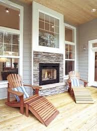 indoor outdoor fireplaces fireplace screened porch two sided gas