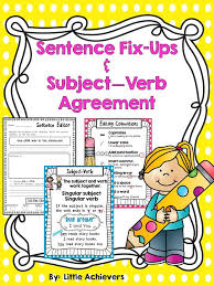 16 best subject Verb Agreement images on Pinterest | Subject verb ...