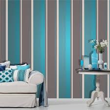 Horizontal Wallpaper Designs Millie Stripe Wallpaper Teal White Silver Luxury New