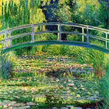 the waterlily pond with the japanese bridge painting claude monet the waterlily pond with the