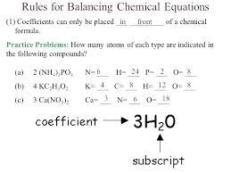 balancing chemical equations problems and answers student practice