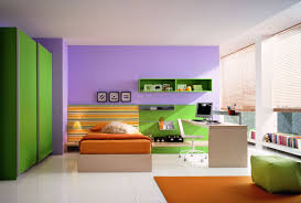 Bedroom:Smart Combination For Teen Bedroom Color Decor Using Green And  Purple Color Also Orange