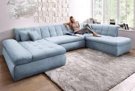 Wohnlandschaft Blau 353cm Ottomane Rechts Fsc Zertifiziert Domo Collection