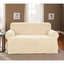 sure fit 1pc soft suede t cushion sofa
